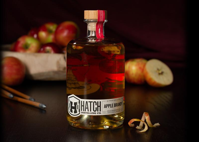 apple brandy display
