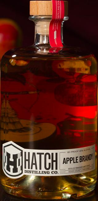 apple brandy bottle